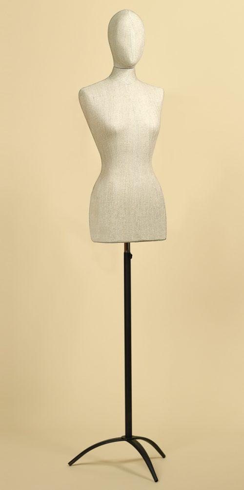 busto sartoriale donna testa misto lino base treppiede vintage