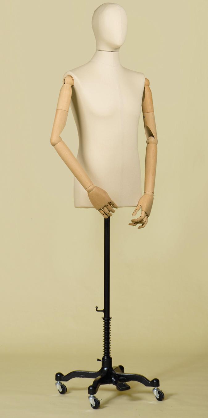 busto sartoriale uomo testa cotone panama braccia base
