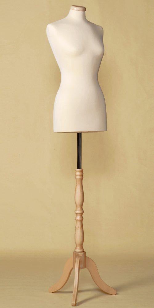 busto-sartoriale-donna-economico-base-legno-treppiede