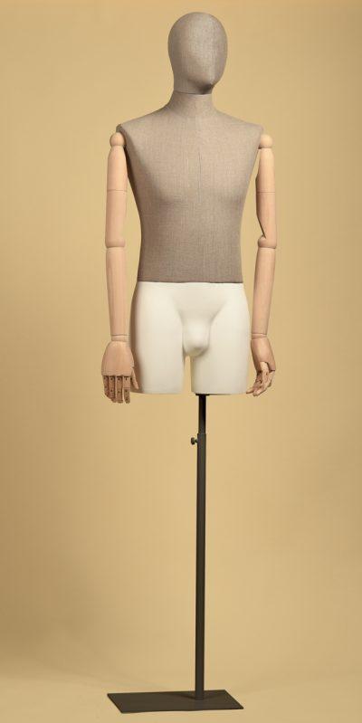 busto-uomo-sartoriale-testa-coscia-lino-grezzo-braccia