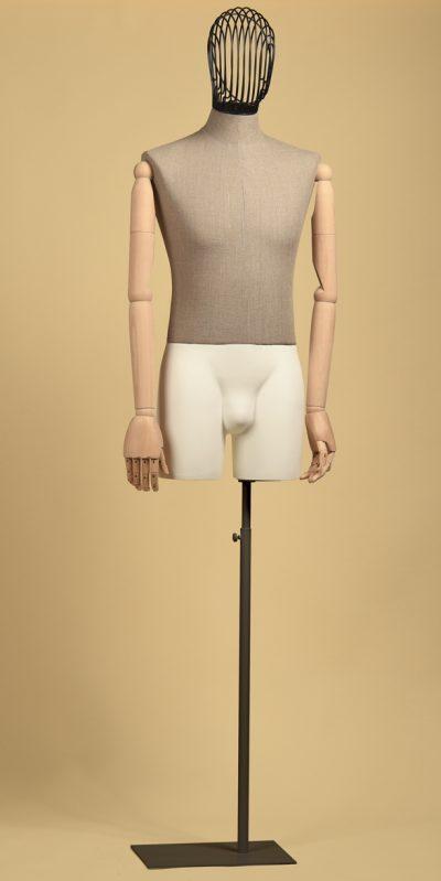busto-uomo-sartoriale-testa-filo-coscia-lino-grezzo-braccia