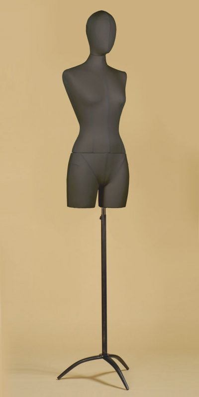 busto-donna-sartoriale-coscia-cotone-nero-treppiede