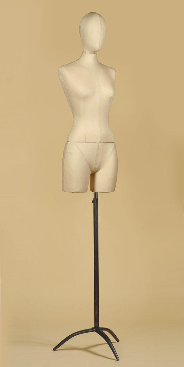 busto-donna-sartoriale-coscia-cotone-panama-treppiede