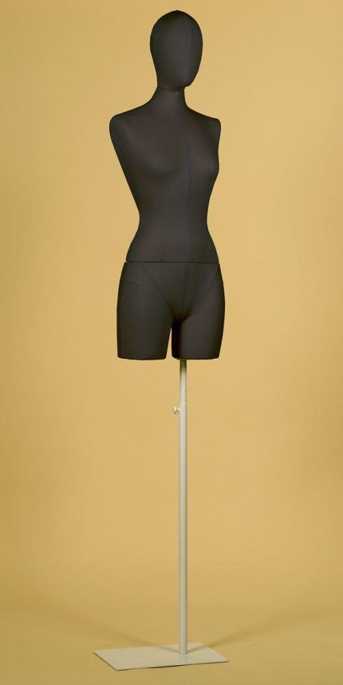 busto-sartoriale-cotone-nero-cucito-donna-coscia