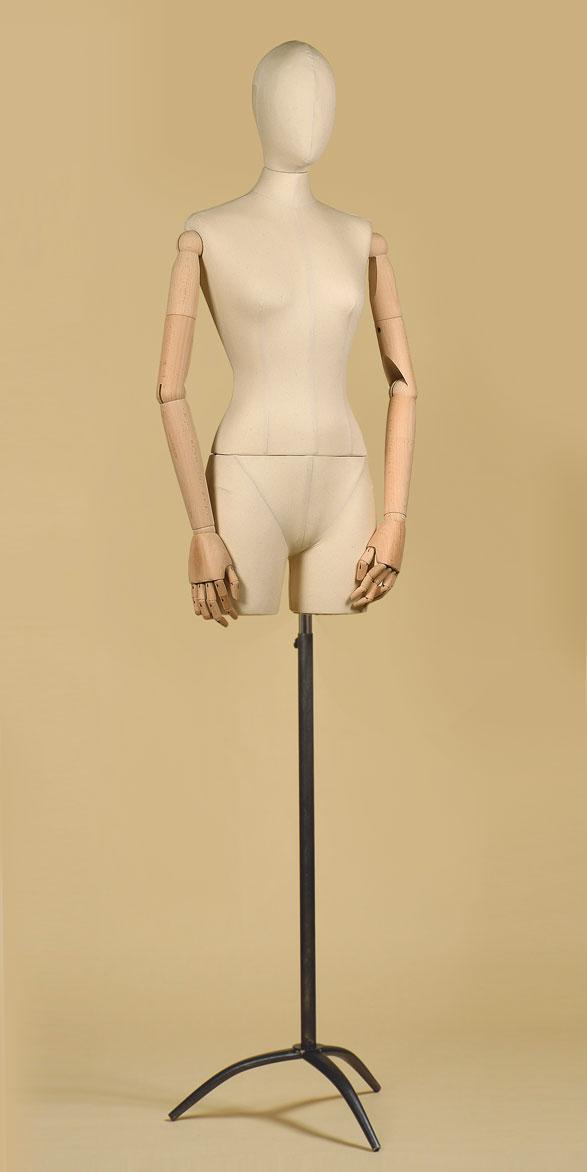busto-sartoriale-donna-coscia-braccia-cotone-panama-treppiede