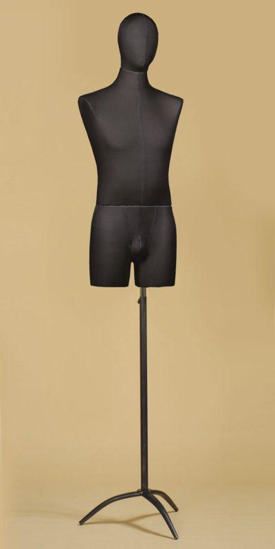 busto-sartoriale-uomo-coscia-cotone-nero-treppiede